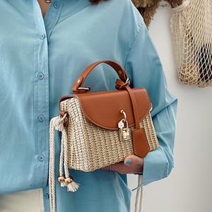 Neue Sommer Strohbeutel Beach Webart Handtasche Frauen Crossbody Taschen 2020 Mode Damen Messenger Bag Abend Kupplungen Weibliche Geldbörse RL5D