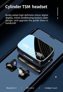 TWS M9-17 Sem Fio Bluetooth 5.1 Earbud Som Estéreo Esportes Esportes Exibição Digital In-Ear IPX7 LED Headphones Frete Grátis