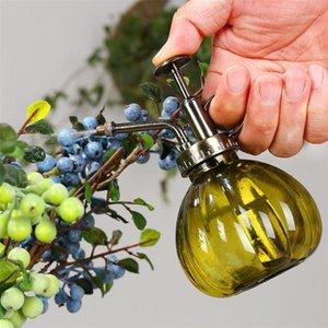 Ретро европейско-стиль стеклянный полив может посадить цветок ручной нажимной полив может суккулентный чайник садовый садовый садовые инструменты1
