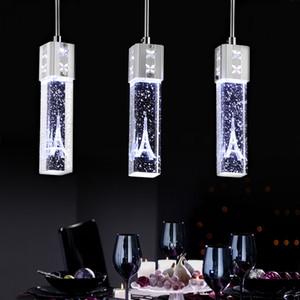Modern Fashion LED crystal Pendant Lamp Cabinet Bar Led Pendant Lamp K9 Bubble Crystal Chandelier Art Bar Restaurant Lighting RW481