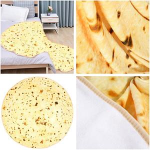 90cm 150 cm Mexikanische Burrito-Decke Tortilla Haushaltsdecken Erwachsene Kind Komfortables Essen Decken Bettdecken BettPreads GWF4151