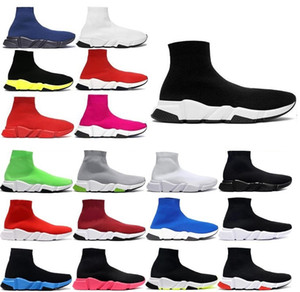 2021 with box designer men women speed trainer sock boots socks boot casual shoes shoe runners runner sneakers