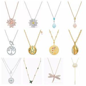 Alta qualidade original swa colar com gravura original 2020 novo presente de jóias para as mulheres jóias de luxo frete grátis