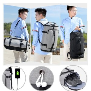 Men Multifunction Sports Backpacks USB Charging Business Bag Computer Notebook Backpacks Waterproof Travel Luggage Handbag Z1121
