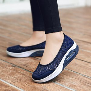 Women Flat Platform Shoes Women Breathable Casual Sneakers Shoes Slip on Platform Walking for zapatos para mujer