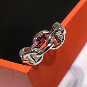 Anneaux de championnat Nouveaux bijoux créatifs avec émail femme homme marquée H original Bague PS6404 Femme Bijoux Bague Livraison gratuite avec boîte