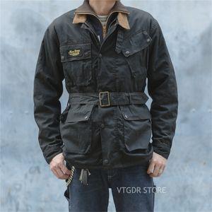 NoniCive Transmaster Waxed Куртка Урожай мотоцикл Racing McQueen Coll Black 201218