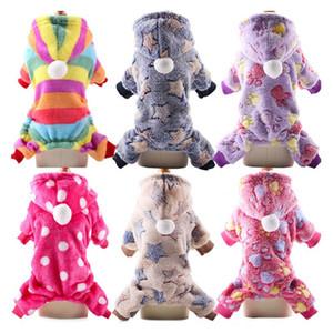 Soft Fleece Drun Jumpsuit Invierno Perro Ropa Pijamas Pequeño Perrito Abrigo Mascota Trajes Perro Sudadera con capucha Ropa