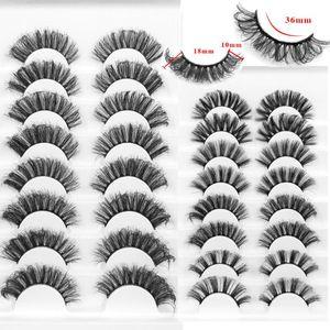 NEW5 8 Pairs 3D Mink Lashes 18mm Dramatic Volume Eyelashes Mink Natural Long Silk Eyelashes Beauty Makeup Eyelash Extension Tool