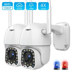 1080P 2MP Wireless IP Camera WiFi Cloud Storage PTZ Outdoor Auto Tracking Home Security Surveillance Infrared Night Vision
