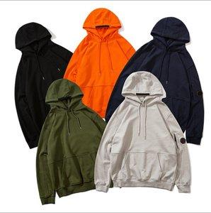 Мода мужская толстовка 20FW зима плюс бархат тепло тенденция аппликация рисунок вышивки высокого качества женщин свитер балахон размер M-2XL