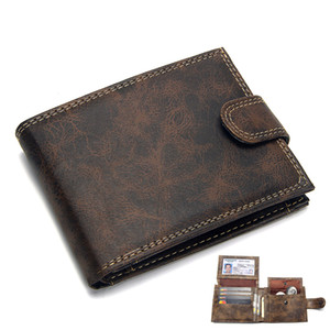Designer Mens Wallet Leather PU Bifold Short Wallets Men Vintage Male Purse Coin Pouch Multi-functional Cards Wallet