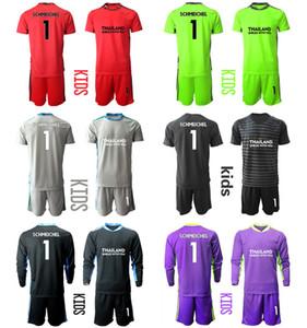 2021 Season Camisa De Futbol Custom Kids Kit Uniform Sets 1 SCHMEICHEL Goalkeeper Football Boys Training Soccer Jersey