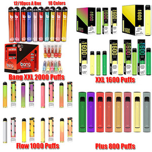 Bang XXL Puff Xtra Posh Plus XL Flow Max Pro Flex Twist Dispositivo Descartável POD Kit 1500 Puffs Perfilled Vape Vape Pen