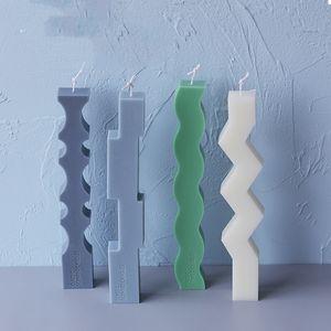 Спецификация в форме полоса свеча силиконовые плесени европейские простые свеча формы рождественские украшения дома свеча формы ремесло инструменты