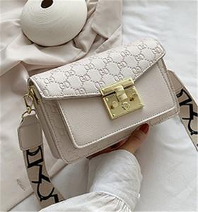 Textura avançada gravada saco feminino 2020 nova moda web celebridade grande bloqueio pequeno saco quadrado largo cinta de ombro único inclinação