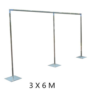 3x6 m Wedding Backdrop Stand with expandable Rods Backdrop Frame Adjustable Stainless Steel Pipe Wedding props