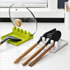 Spoon Spatula Shelf Multifunction Utensil Mat Kitchen Utensil Rest Storage Shelf Kitchen Cooking Shelf Holder Pad sea shipping HWB3509