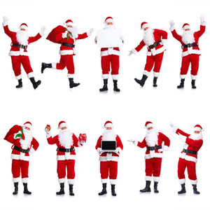 European and American Santa Claus costume Cosplay costume is unisex
