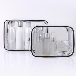 PVC transparent Sac à cosmétiques de Voyages PVC Femmes Organisateur Zipper Clear Clear Maquillage Sac étanche de toilette Pouch Organiseur Hot Sale1