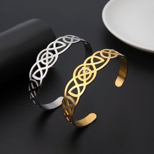 Hollow Wide Cuff Bracelets & Bangles for Women Men Retro New Stainless Steel Open Big Male Female Fashion Jewelry 2020 Hot Sale