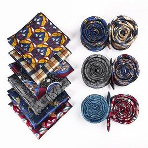 2020 cravatta per il collo floreale da uomo cravatta a fazzoletto set da uomo casual business cravatta tasca tasca quadrato asciugamano personalizzato logo