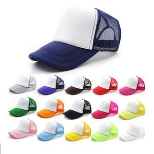 13 Renkler Çocuklar Kamyoncu Kap Yetişkin Mesh Kapaklar Boş Kamyon Şapkası Snapback Şapka Acept Moda Kapaklar Ücretsiz Kargo LLS792