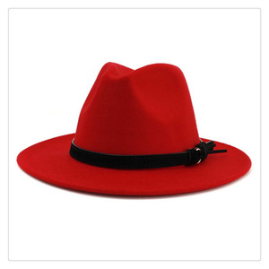 2019 New Fashion Men Fedoras Womens Fashion Jazz Hat Summer Spring Woolen Blend Cap Outdoor Casual Hat