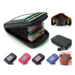 LKEEP Vintage Women Men Unisex Mini Wallet Coin Purse Cards ID Holders Solid PU Leather Wallets 2020