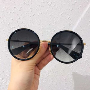 532LAGES designer sunglasses retro style small round frame Galvanized temple UV400 men's and women's universal top quality DTS532