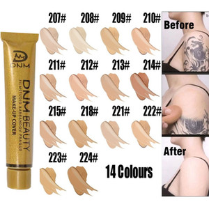 DNM High Covering Face Concealer Cream Contour Pallete Foundation Full Cover Waterproof Make Up Lip Face Pores Cosmetic 0420