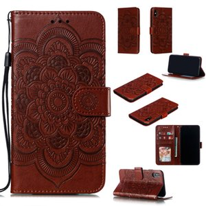 Clamshell Embossed Leather TPU Mobile Phone Case for Samsung A70 with Horizontal Function Watch Video Wallet Storage