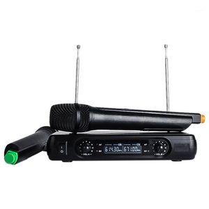 Karaoke Wireless Microphone V2 Mixer o Radio Kits LCD Handheld Microphones for Karaoke System Computer Mic1