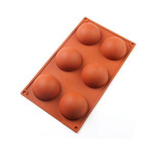 سيليكون الخبز العفن ل كعكة الشوكولاته جيلي بودنغ نصف جولة شكل قوالب الحلوى غير عصا BPA مجانا WB3370