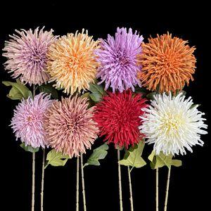 7Pcs Single Stem Oversize Gerbera Simulation Melaleuca Pineapple Emperor Chrysanthemum for Wedding Home Artificial Flowers Z1120