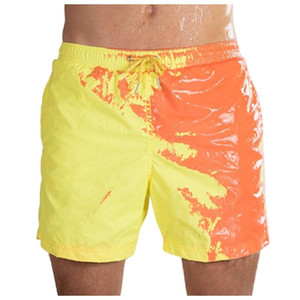 JESSIC Summer Mens Swimming Shorts Temperature-Sensitive Beach Pants Swim Trunks Changing Color Swimwear Shorts
