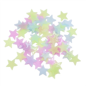 300pcs 3D Stars Glow In The Dark Wall Stickers Luminous Fluorescent Wall Stickers For Kids Baby Room Bedroom Ceiling Home