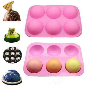 Molde de silicona de la esfera de la bola para hornear de chocolate Cake de silicona redondo Pastelería PABLA DE PANTALLA FORMULARIO Pudín Jello Jabón Molde Pan Molde de caramelo DHE3442