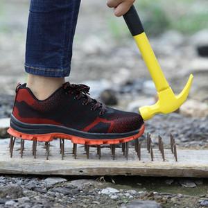 Мужские зимние стальной подносок Безопасность Обувь Мужчины Открытый Противоскользящая стали Прокол ВБИ Boots Работа