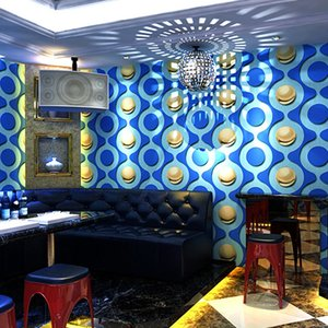 Hot 3D circle Wall Roll Modern Stereo Paper Wallpaper Rolls Papel De Parede washable embossed pvc vinyl Wall Paper