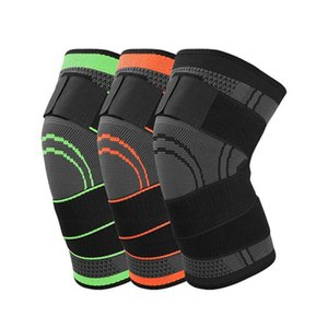 1pc Professional Knee Support Sports Knee Pad Breathable Bandage Brace Basketball Cycling 3d Weaving Knee Brace Pad wmtqit yycolor