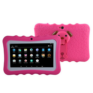 """Kids Tablet PC 7"""" Quad Core children tablet Android 4.4 christmas New Year gift A33 google player wifi big speaker protective cover 8G"""