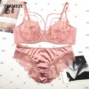 Termezy Classic Bandage розовый бюстгальтер набор нижнего белья Push Up Brassiere кружевное белье набор сексуальных атласных тканей для женщин underwearx1122