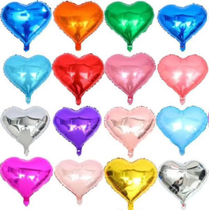 18inch Foil Balloon Heart Shaped Valentine Day Love Gift Multiple Colors Wedding Birthday Party Home Decoration Balloons 2021 Hot Sale