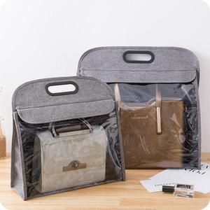 Transparent Dustproof Bag Storage Bag Messenger Handbag Shoulder Moisture Hanging Organizer