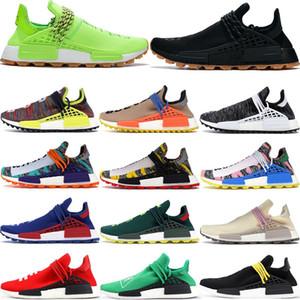 NMD HU İnsan Yarışı Erkek Kadın Koşu Ayakkabıları Pharrell Williams Sonsuz Türler Güneş Paketi R1 V2 Üçlü Beyaz Turuncu Mavi Erkek Spor Sneakers