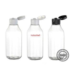Hot sale,30pcs,100ml Transparent clamshell square necked bottle,lotion bottles, refillable bottlesgood quality