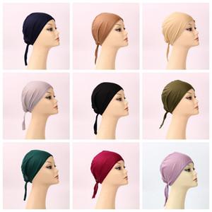 Arabisches Nationalkostüm Modal Turban Hair Bonnet Caps Bottom Cap Jersey Muslimische Massive Kopfhaube Cover Cap GWC5867