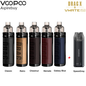 VOOPOO DRAG X Vape Kit Limited Edition with 3ml VMATE Pod & 4.5ml PnP Pod VM6 VM1 Coil Vaporizer E Cigarette Authentic