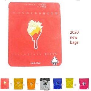 Wonderbrett bags Bliss Medicated SQCPHU Bags Edibles locais Wphome Mylar cheiro de morango 10x12.4cm Prova RVumv
